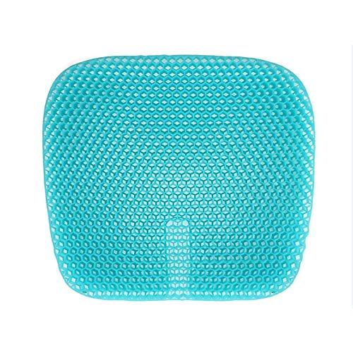 CVMFE Sitzkissen Orthopädisch Hochwertiges Gel-Sitzkissen Für Erwachsene Kinder Stuhlkissen Verfügbar Wohnheime Hotels Blauer Stuhl Sofa Autositzkissen-Blau 1 Stck_47 X 44 cm