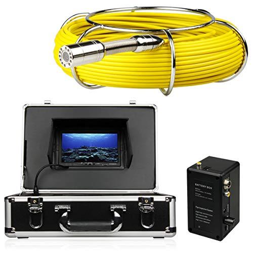 XINTONGSPP Detector de tubería, cámara de detección de alcantarillado de tubería Industrial Grande de 7 Pulgadas IP68 Impermeable 1000 TVL cámara DVR Video,100m