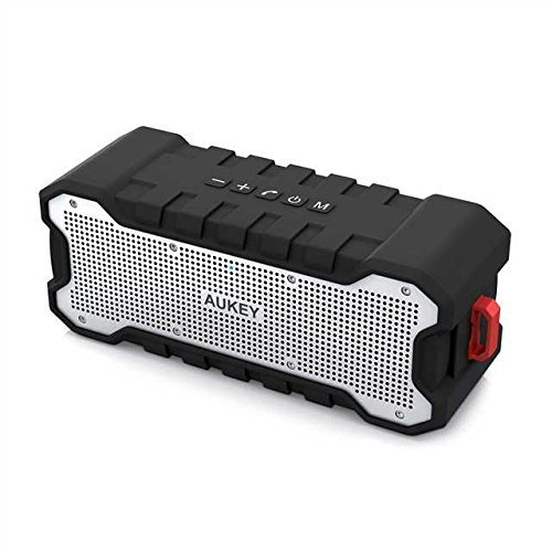 Bluetooth Speaker, AUKEY SoundTank Wireless Outdoor Speaker with 30 Hours Playtime, Enhanced Bass, Water Resistant Speaker for iPhone, iPad, Samsung...