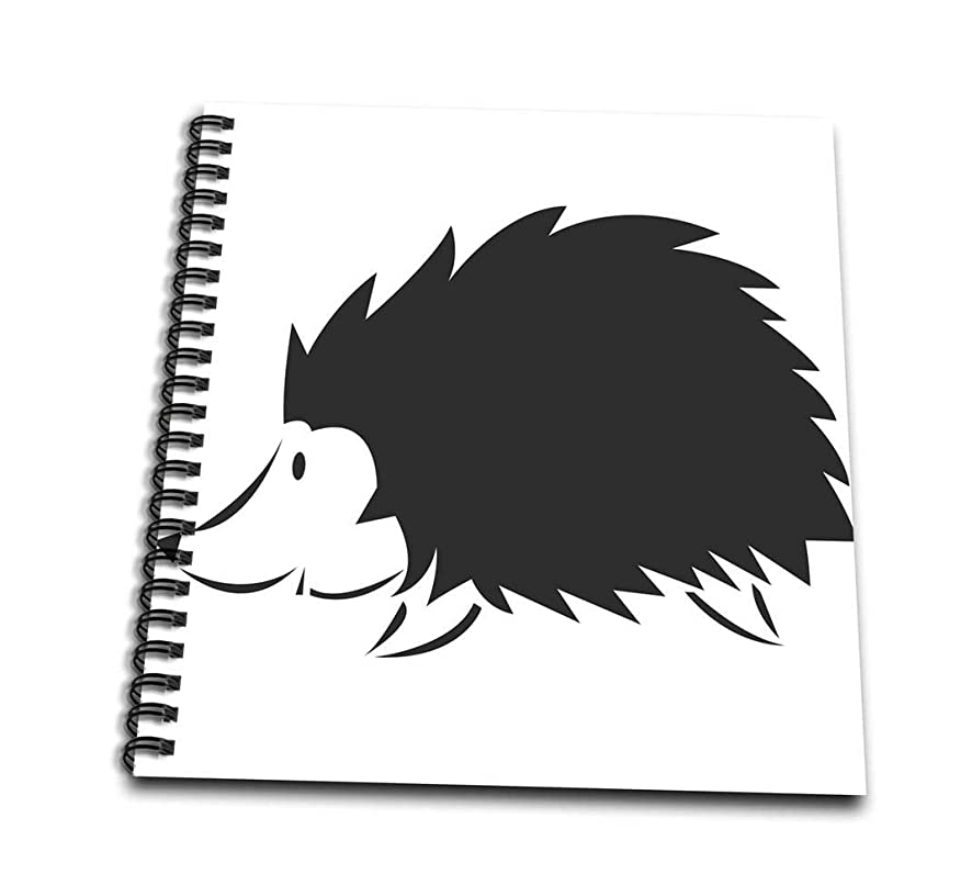 3dRose db_124263_1 Porcupine Drawing Book, 8 by 8