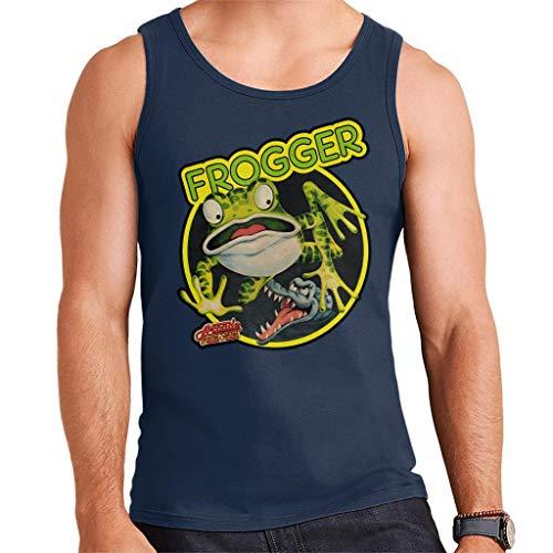 Men's Frogger 80s Video Game Vest Top, Navy, S to XXL