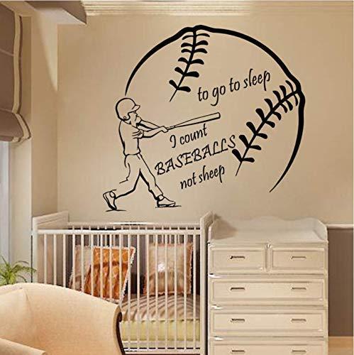 Wandtattoos Zitat Zum Schlafengehen Ich Zähle Baseballs Jungen Kinderzimmer Aufkleber Wanddekor Wandtattoos Modernes Design Aufkleber 56 * 61