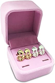 Magic Earring Lifters,2 Pairs of Adjustable Hypoallergenic Sterling Silver Secure Backings- Replacements,Easy to Use Back Earrings for Ear Lobe Lifter,Support Most Posts with Jewelry Case(Heart)