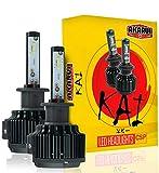 KAI AKARUI LED Headlight Bulbs Conversion Kit - Single Beam - CSP LED Chip - 7000 lumens - 6K Cool White - Official Warranty - Pair (H8 (H9/H11/H16))