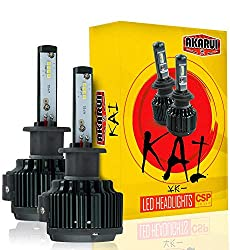 KAI Akarui LED Headlight Bulbs Conversion Kit - Single Beam - CSP LED Chip - 7000 Lumens - 6K Cool White
