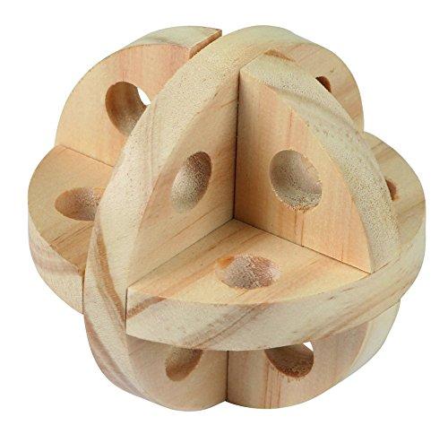 Kerbl 82864 Spielball und Snackball für Nager Natur, Diameter 7 cm