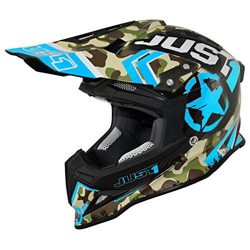 Just 1 Helmets 606320080102005 Casco J12 Kombat Blu, L