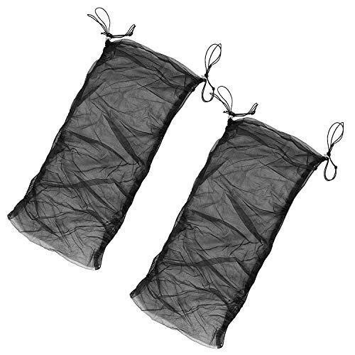 ZOENHOU 2 PCS Bird Cage Cover, Bird Cage Seed Catcher, Bird Cage Net Covers Birdcage Adjustable Nylon Mesh Net Skirt Netting Accessories Black, Circumference 39-78 Inch Height 13 Inch