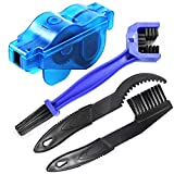 Bike Chain Cleaner, Bike Cleaning Kit, Chain Cleaner for Cycling, Suitable for Mountain Bike, Road Bike, BMX, Bicycle Cleaning Brush Tool for Drivetrain, Gear, Cassette, Sprockets, 4 Piece Set
