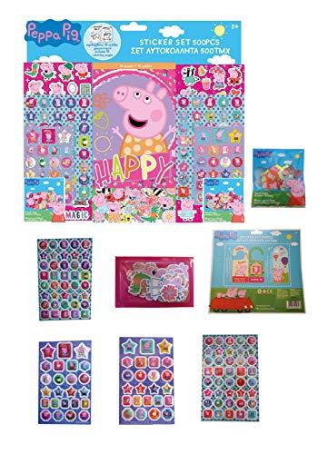Factorycr 482407 Disney Peppa Pig Block en Sticker, meerkleurig