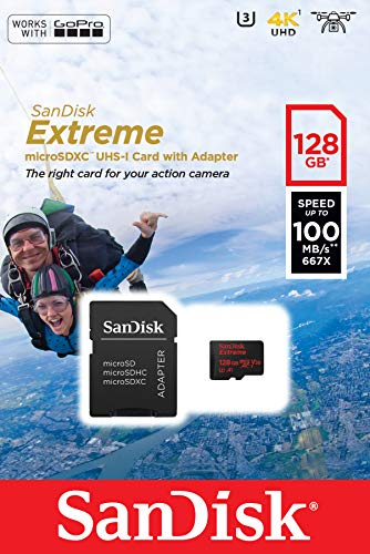 SanDisk Extreme 128GB microSDXC UHS-3 Card - SDSQXAF-128G-GN6MA