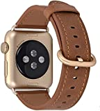 JSGJMY Leather Band Compatible with Apple Watch 38mm 40mm 42mm 44mm...