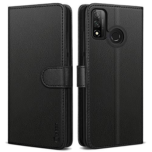 Vakoo Cover per Huawei P Smart 2020, PU-Pelle Protettiva Portafoglio Flip Case Custodia per Huawei P Smart 2020 - Nero
