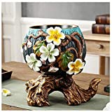 HongLianRiven Vaso di Fiori Dipinto a Mano di Simulazione del Salone Creativo d'Annata ceramico del Desktop 10-26