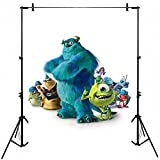 Photography Background White 5x7ft Monster Inc Backdrop for Birthday Photography Seamless Monster Jam Truck Baby Shower Photo Studio Backdrops Customized