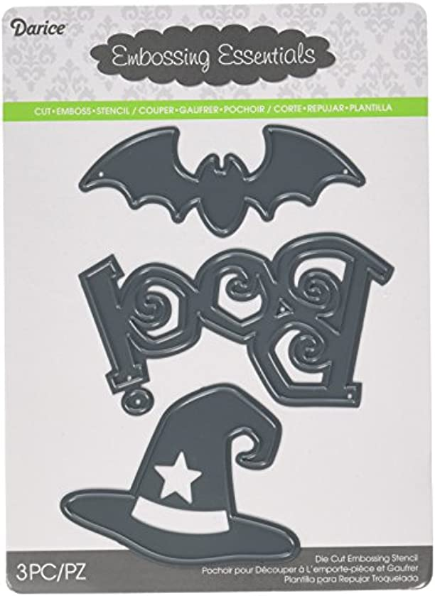 Darice Craft Die Cut, Halloween Shapes, Boo, Bat and Witch Hat