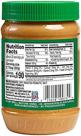 Teddie Max 68% OFF All Natural Peanut Kansas City Mall Butter 26-Ounce Jar Super Pa Chunky