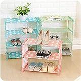 Zapatero de 4 niveles para montaje de zapatos de 8 a 15 pares de...