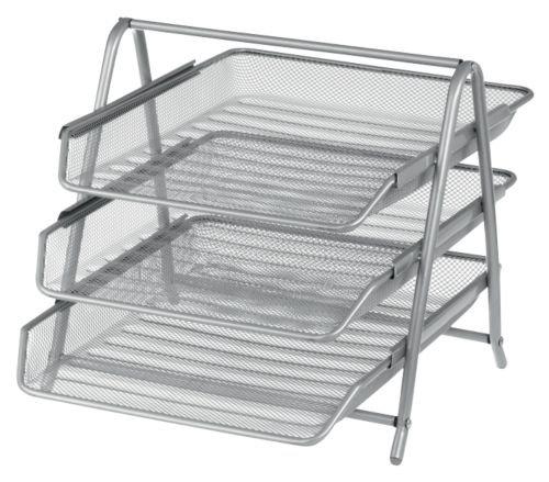 Office Depot 3er-Briefkorb Metall Silber 27 x 35,5 x 26,5 cm