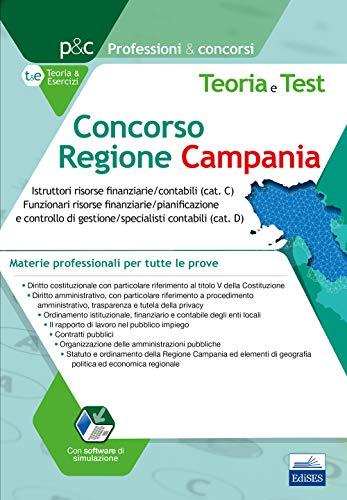 Concorso Regione Campania: Istruttori risorse finanziarie/contabili (cat. C) Funzionari risorse finanziarie/pianificazione e controllo di gestione/specialisti contabili (cat. D)