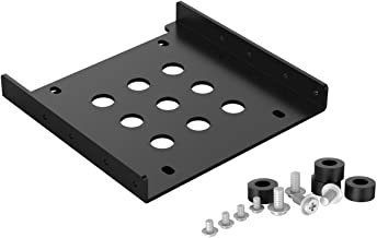 ORICO 2.5 to 3.5 Hard Drive Adapter SSD Mounting Bracket Kit - Aluminum SATA Bay Converter Hard Drive Holder for PC - Black