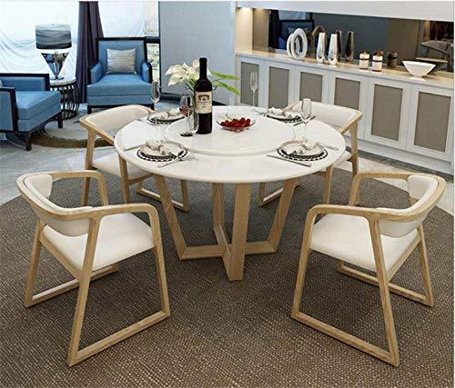 LGFSG Conjunto de Mesa Juego de Comedor Hogar de mármol Natural, Mesa de Comedor Moderna Minimalista y 4 sillas Mesa de jantar Muebles Comedor, Blanco