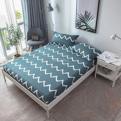Hllhpc Beige Roze Banaan Leaf Hoeslaken 1 Stuk 100% Katoen Stof Bed Sheet