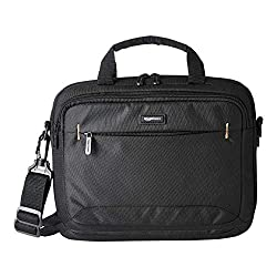 heavy duty Amazon Basics carrying case for 11.6-inch laptops and iPad tablets, black, 1 pack