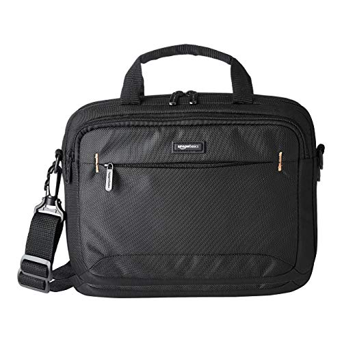 Amazon Basics 11.6-Inch(29.5 cm) Laptop and iPad Tablet Shoulder Bag Carrying Case, Black, 1-Pack