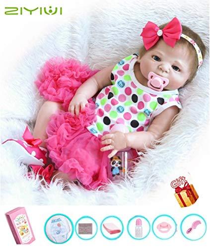 ZIYIUI 18 Pulgadas Reborn Bebe Muñecas Realista Lleno Cuerpo Silicona Girl Recién Nacido Reborn Baby Dolls Muñecos Reborn Cumpleaños Hecho a Mano Regalos Navidad Juguetes 45cm