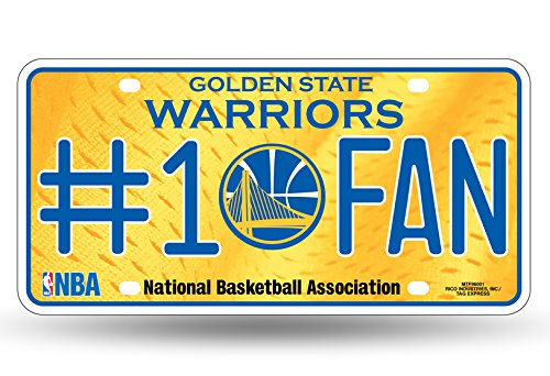 NBA Golden State Warriors #1 Fan Metal License Plate Tag