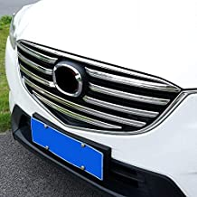 Baodiparts Chrome Front Mesh Grille Grill Cover Trim Molding for Mazda CX-5 2015 2016 9-Pack