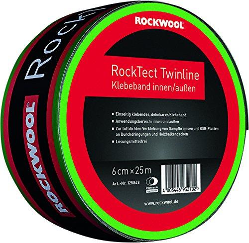 Deutsche Rockwool Mineralwoll GmbH & Co. OHG–rocktect Double Line Breite von 60mm 25Meter pro Rolle