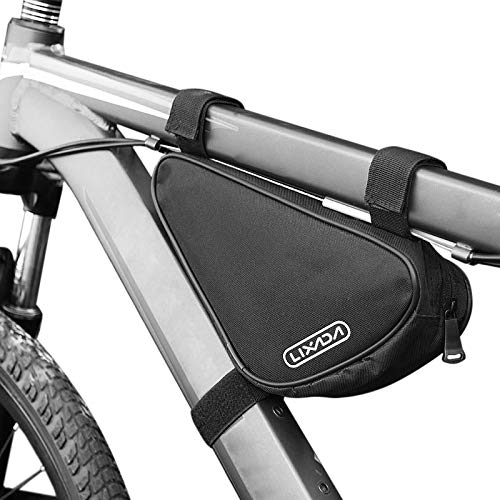 Lixada Cycling Bicycle Front Tube Frame Bag Outdoor Mountain Bike Pouch (Style1 -Dimensions :27 * 12 * 6cm)