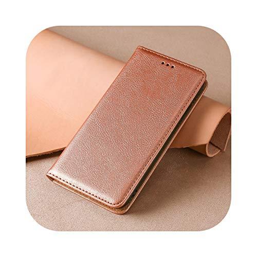 Funda tipo cartera para Xiaomi Redmi 4 4A 5 5A 6 6A 7 7A 8 9 10 Pro 4pro 9A Mi Poco X3 M3 Libro Cuero Funda con tapa imantada Rosa Gold-for Redmi 4A