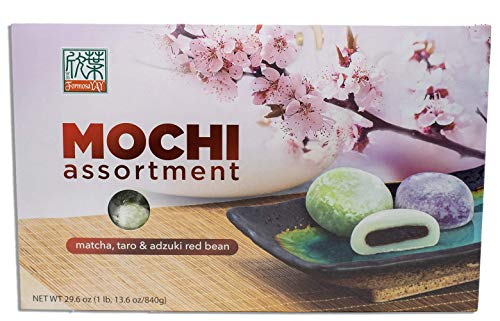 Formosa Japanese Mochi Assortment Pack with Matcha Green Tea, Taro, & Red Beam by Formosa