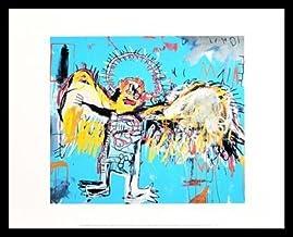 Jean-Michel Basquiat Dustheads Poster Kunstdruck mit Alu Rahmen schwarz 36x28cm
