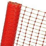 HaGa® Absperrzaun 1,2m x 25m - Bauzaun Zaun mit 120g/m² - Baustellenzaun Kunststoffzaun Gartenzaun in orange