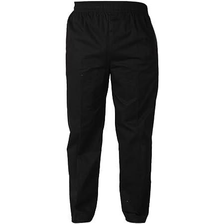 MJL Professional Workwear Chefs Trousers Elasticated Waist Chef Trouser for Men Women Unisex Elastic Asian M