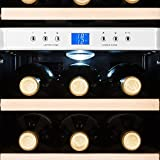Klarstein Reserva - Weinkühlschrank, Getränkekühlschrank, Kühlschrank, 34 Liter, 2 programmierbare Kühlzonen, 12 Weinflaschen, 7-18 °C, Innentemperaturanzeige, weiß [Energieklasse B] - 4