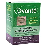 Eyelid Wipes With Coconut and Tea Tree Oil For Humans With Demodex, Blepharitis & Itchy Eyelids by Ovante - 14 ct