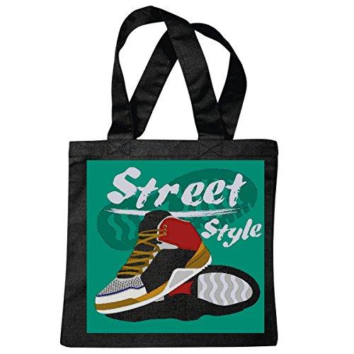 sac à bandoulière STREET STYLE SNEAKERS SNEAKERS LIFESTYLE FASHION STREETWEAR HIPHOP SALSA LEGENDARY Sac école Turnbeutel en noir