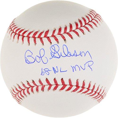 Bob Gibson St. Louis Cardinals Autographed Baseball with 68 NL MVP Inscription - Fanatics Authentic Certified Bob Gibson Autographed Baseball