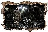 Bergbau Mine Arbeiter Kohle Wandtattoo Wandsticker Wandaufkleber D1059 Größe 60 cm x 90 cm