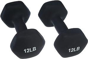 Amazon Basics Neoprene Coated Dumbbell Hand Weight Set