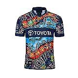 2019-20 Nueva Zelanda Camuflaje Indígena de Rugby Jersey, Rugby Jersey Uniforme de manga corta 100% Poliéster Tela transpirable Deportes Entrenamiento Camiseta Camisa de fútbol para hombres Mujeres