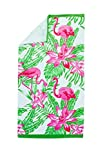 ST. TROPEZ SANDS - (36in x 70in Printed Beach Towel (Tropical Flamingo)