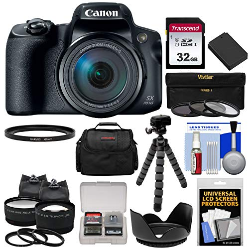 Canon PowerShot SX70 HS 4K Wi-Fi Digital Camera with Kit
