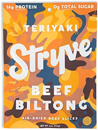 Stryve Biltong Beef Jerky without the Junky 16g Protein Sugar Free No Carbs No Nitrates No MSG product image
