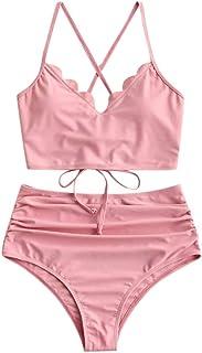 riou Bikini, Tops de Bikini Mujer 2020 Push up Sexy Cintura Alta Conjunto de Traje de BañO con Cordones Estampado Brasileños Bañador Ropa de Dos Piezas vikinis riou